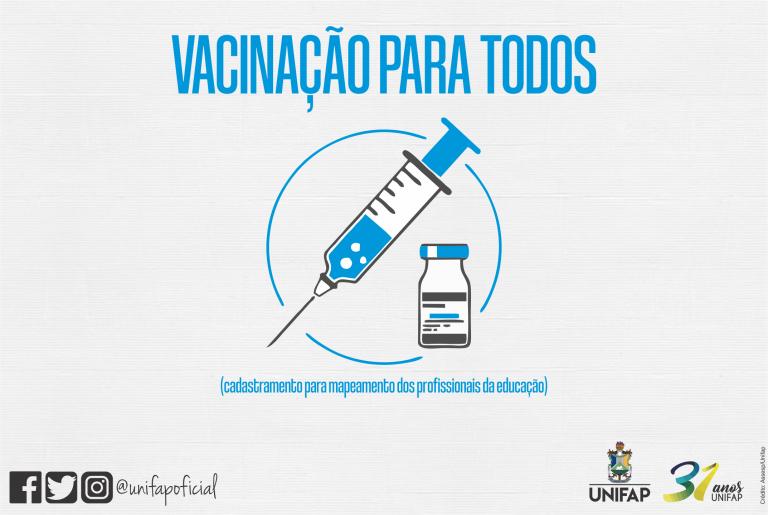 Servidores e terceirizados já podem efetuar cadastro para vacinação