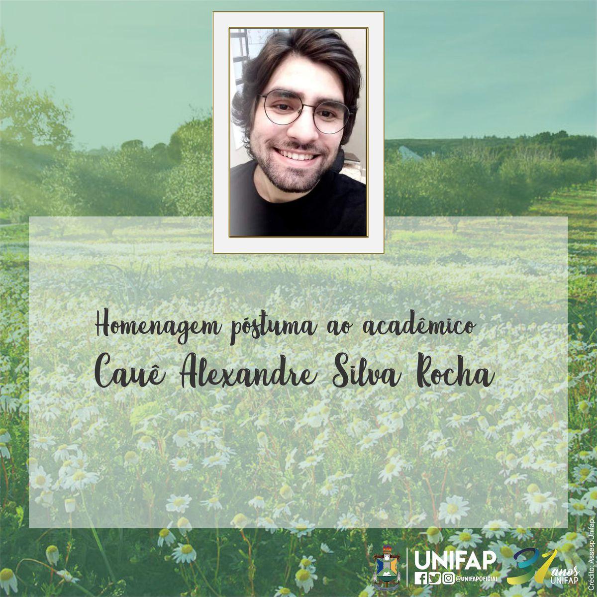 Nota de pesar pelo falecimento de Cauê Alexandre Silva Rocha
