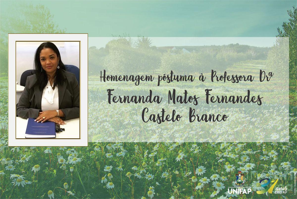 Nota póstuma em memória de Fernanda Castelo Branco