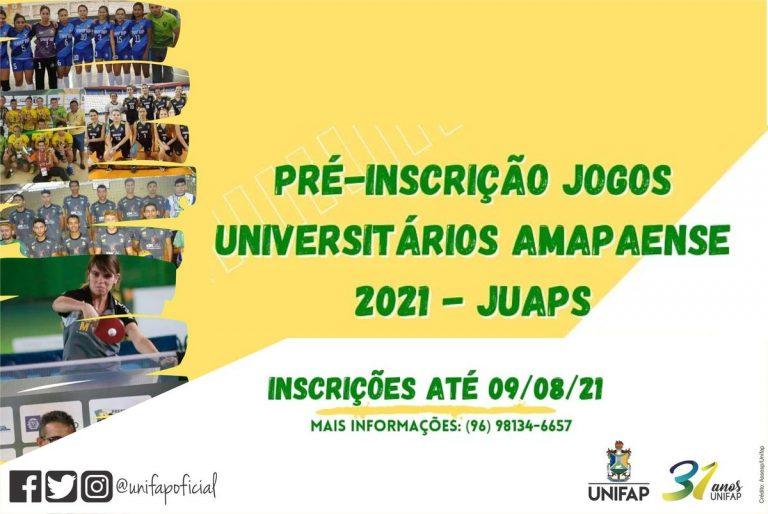 JUAPs 2021 abre pré-inscrições